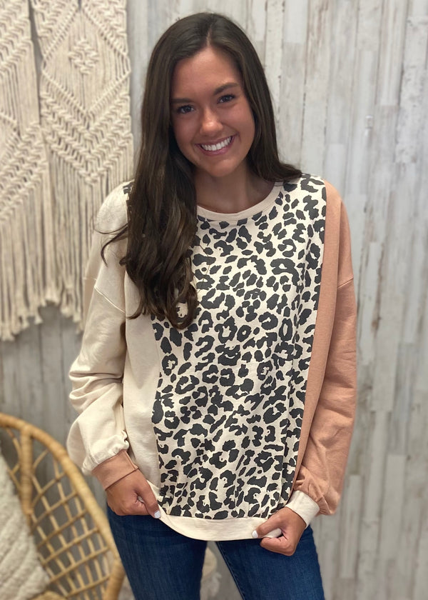 Chase A Feeling Rust Leopard Top-Shop-Womens-Boutique-Clothing