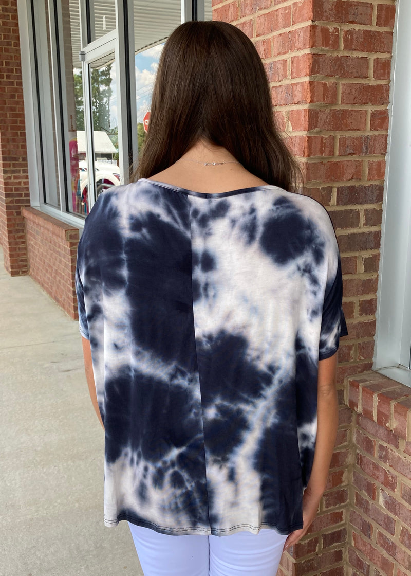 Dawn To Dusk Black Tie Dye Top-Shop-Womens-Boutique-Clothing