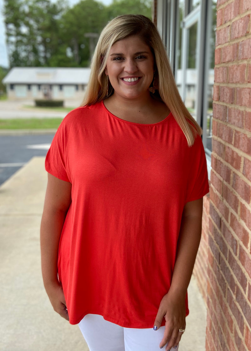 Anything But Basic Plus Size Orange Top-Shop-Womens-Boutique-Clothing