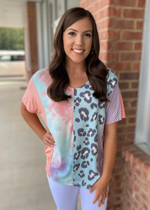 Best Of Both Worlds Tie Dye Leopard Top-Shop-Womens-Boutique-Clothing