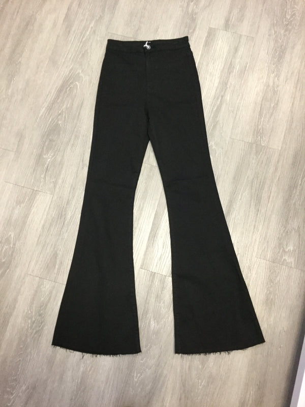 Black High Rise Super Flare Jeans-Shop-Womens-Boutique-Clothing