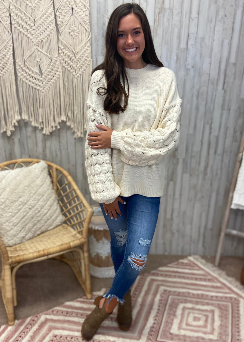 Bring the Warmth Ivory Sweater-Shop-Womens-Boutique-Clothing