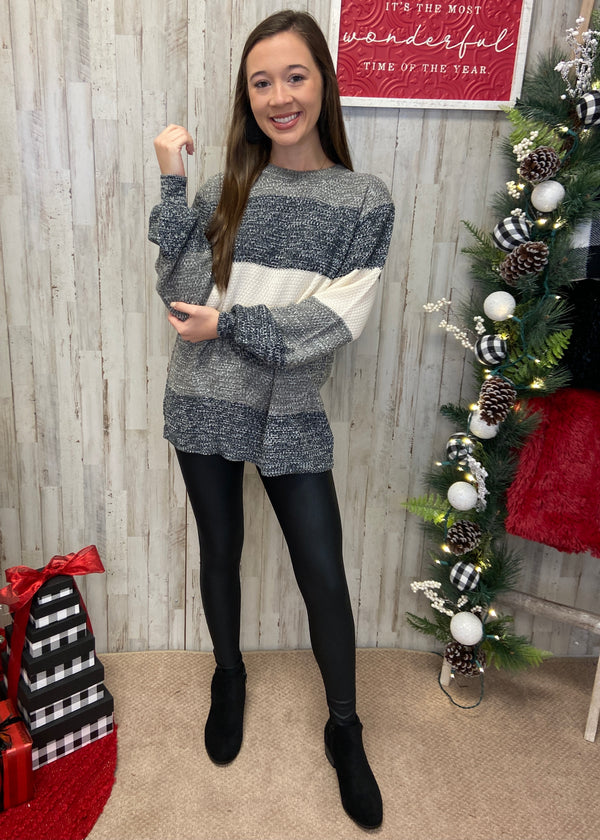 Frosty Nights Charcoal Sweater
