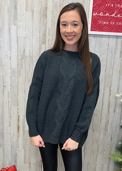 Coffee Date Charcoal Sweater-Shop-Womens-Boutique-Clothing