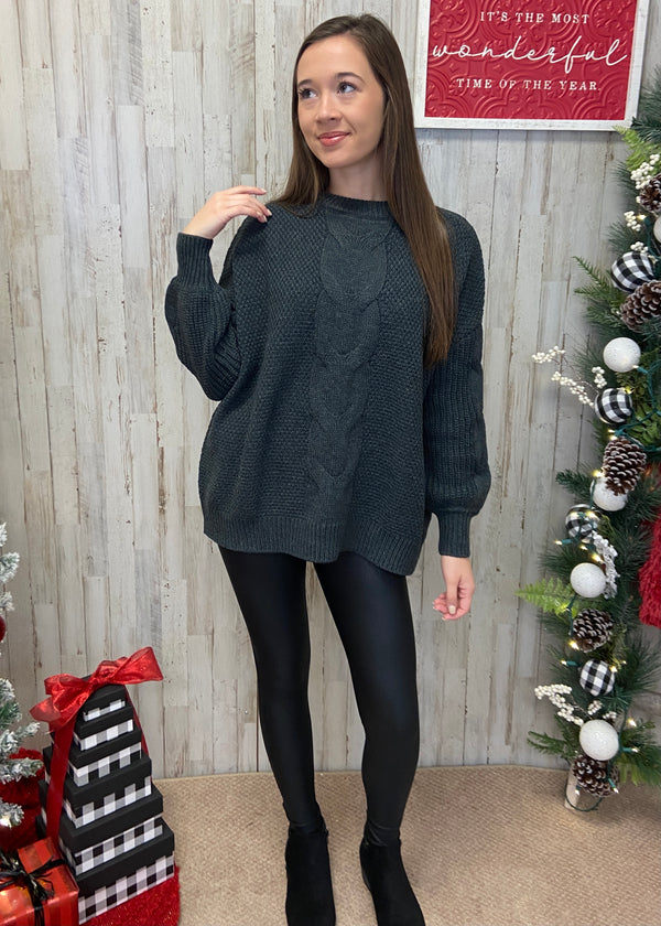 Coffe Date Charcoal Sweater-Shop-Womens-Boutique-Clothing