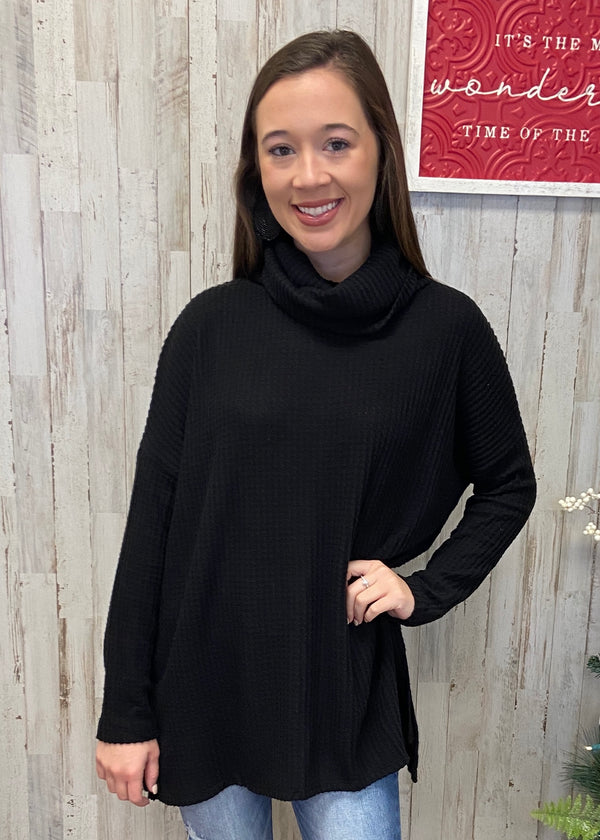 Mountain Top Black Sweater-Shop-Womens-Boutique-Clothing