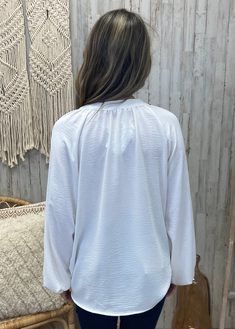 A Little Excitement White Puff Top-Shop-Womens-Boutique-Clothing