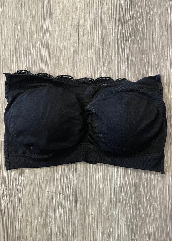 Casual Necessity Black Bandeau-Regular-Shop-Womens-Boutique-Clothing