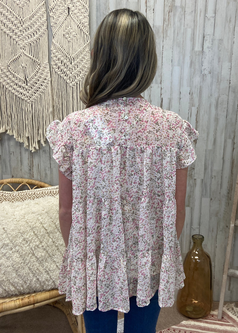Graceful Moments Cream Floral Top-Shop-Womens-Boutique-Clothing