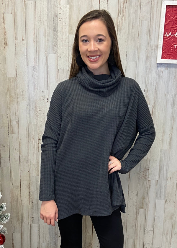 Mountain Top Charcoal Sweater-Shop-Womens-Boutique-Clothing