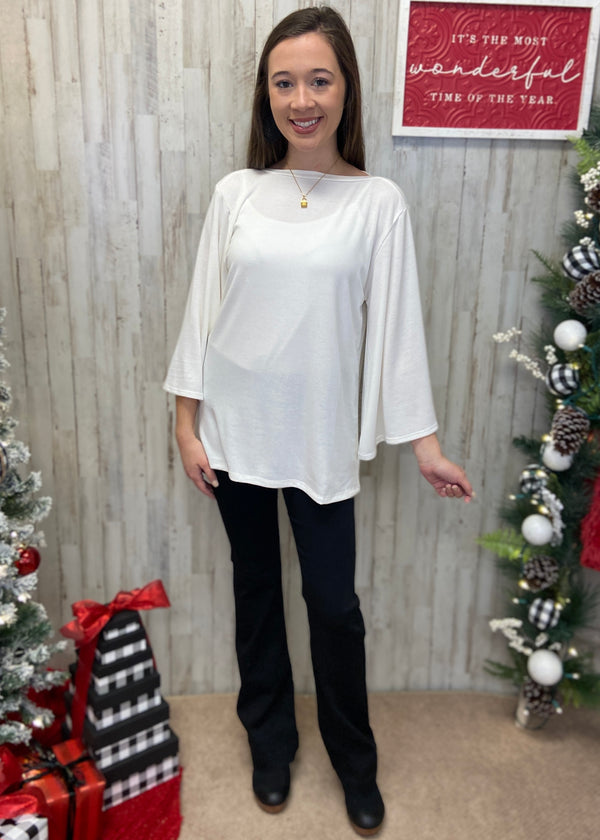 Baby It's Cold Outside Ivory Top-Shop-Womens-Boutique-Clothing