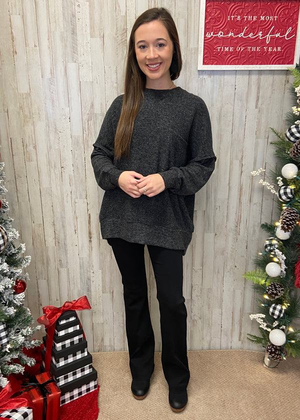 Waiting For Snow Black Sweater-Shop-Womens-Boutique-Clothing