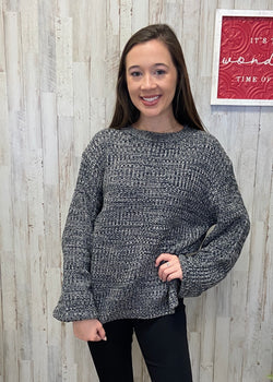 Most Wonderful Time Charcoal Sweater-Shop-Womens-Boutique-Clothing