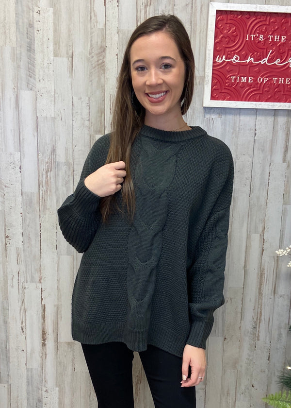 Coffee Date Ash Grey Sweater-Shop-Womens-Boutique-Clothing