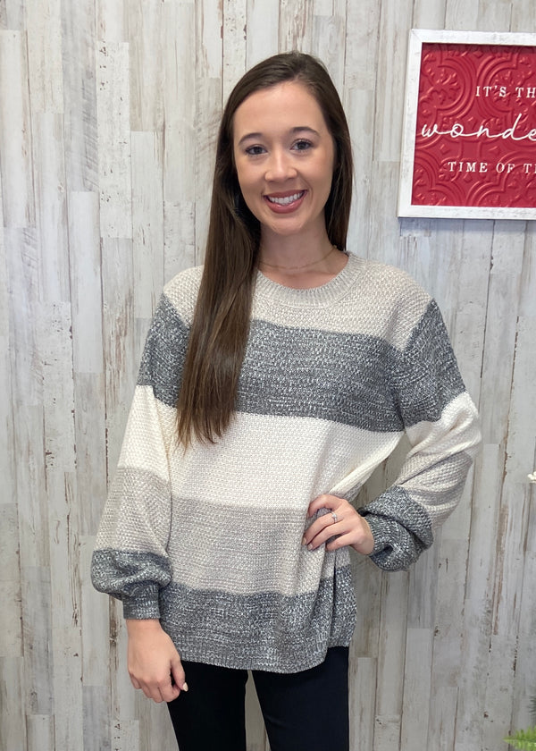 Frosty Nights Grey Sweater-Shop-Womens-Boutique-Clothing