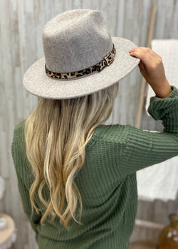 Love Fearlessly Ivory Leopard Trim Hat-Regular-Shop-Womens-Boutique-Clothing
