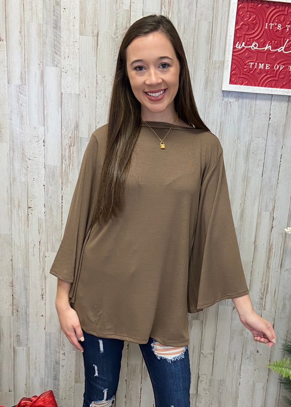 Baby It's Cold Outside Mocha Top-Shop-Womens-Boutique-Clothing