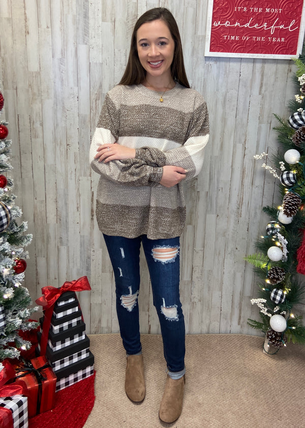 Frosty Nights Mocha Sweater-Shop-Womens-Boutique-Clothing