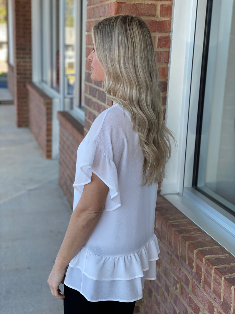 Holding On Off White Ruffled Top-Shop-Womens-Boutique-Clothing