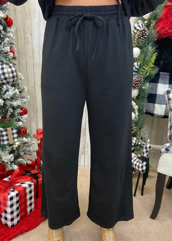 Queen Of Comfort Black Sweatpants-Shop-Womens-Boutique-Clothing