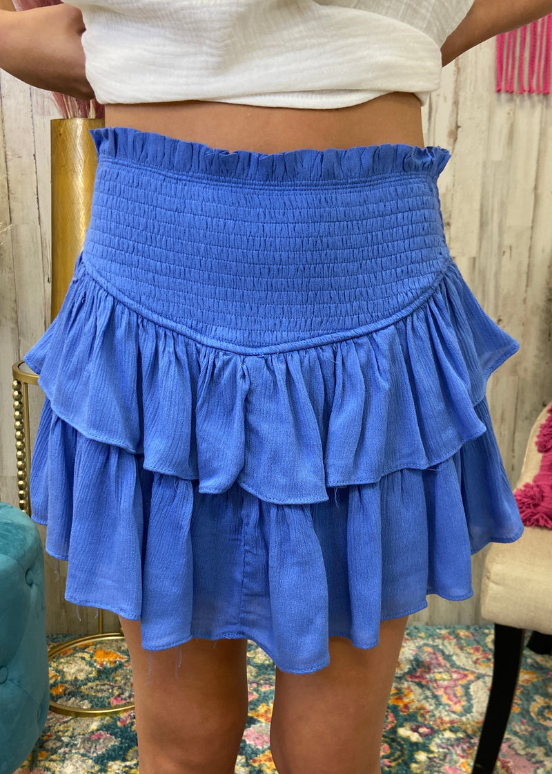 Best Kept Secret Orchid Mist Smocked Skort-Shop-Womens-Boutique-Clothing
