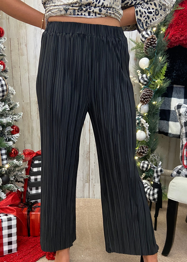 Invite Only Black Pleated Pants-Shop-Womens-Boutique-Clothing