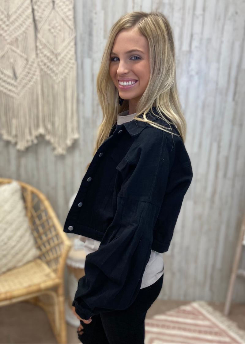 Endless Layers Black Jacket-Shop-Womens-Boutique-Clothing