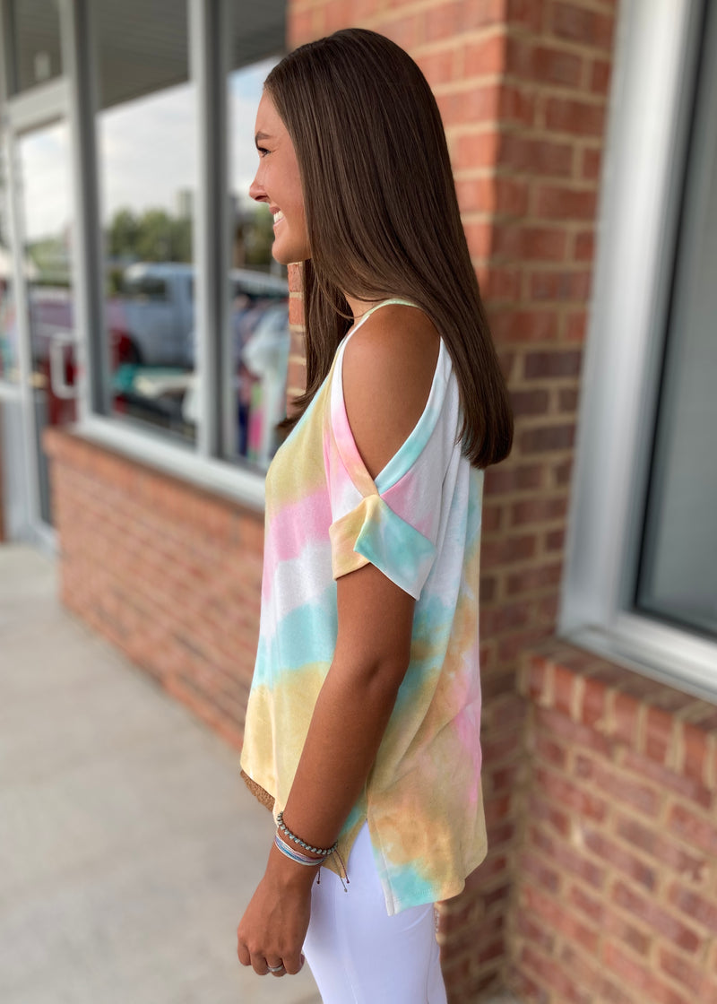 Lovely Bliss Pink Tie Dye Top-Shop-Womens-Boutique-Clothing