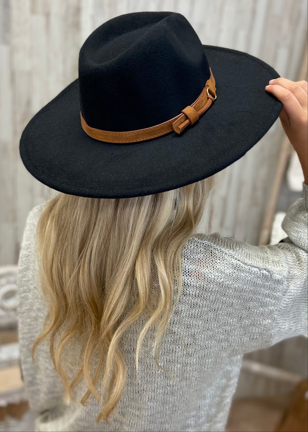 Southern Nights Black Wide Brim Hat-Regular-Shop-Womens-Boutique-Clothing