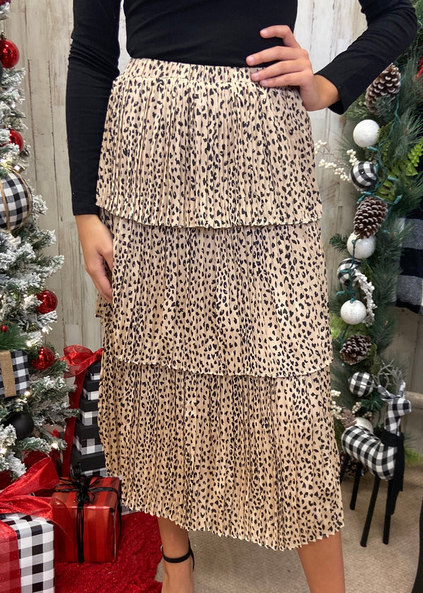 Toast Worthy Taupe Leopard Skirt-Shop-Womens-Boutique-Clothing