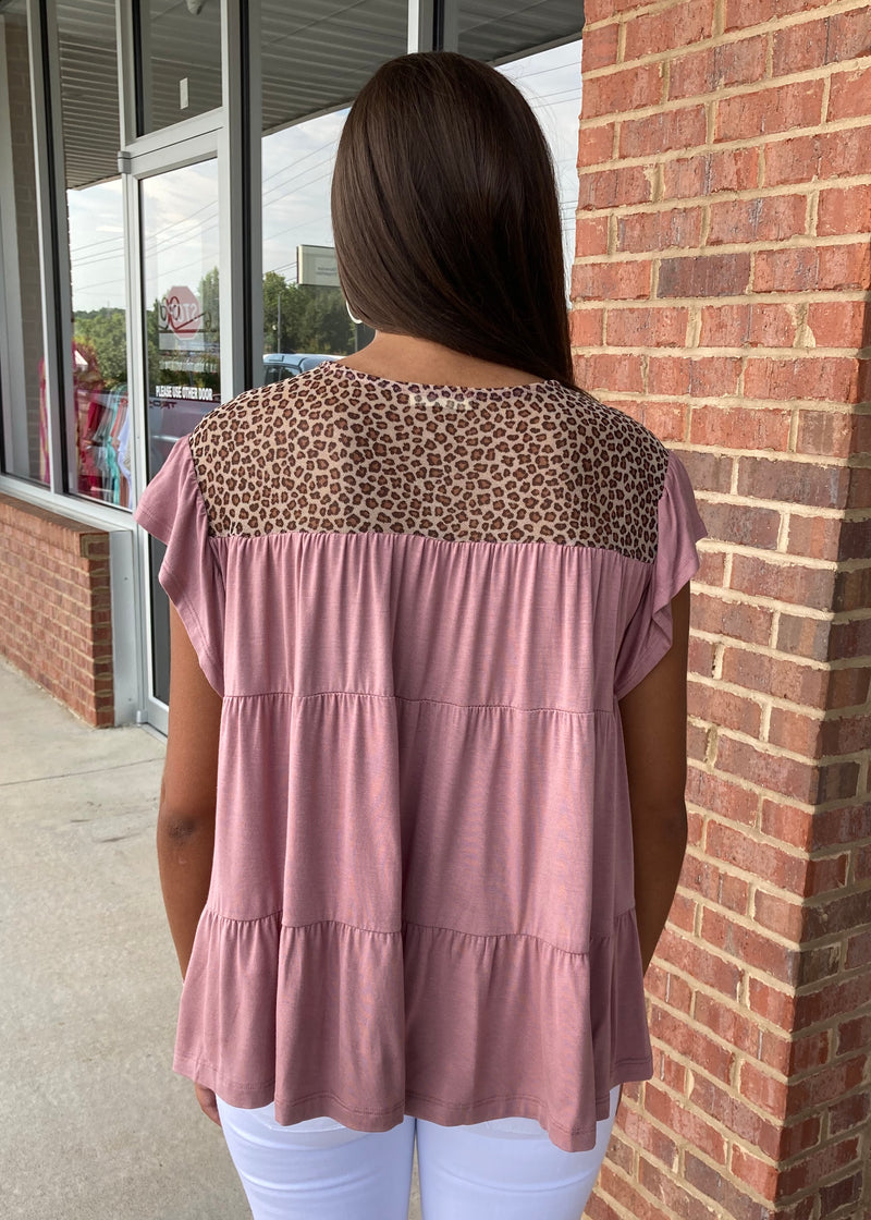 Rule Breaker Mauve Animal Print Top-Shop-Womens-Boutique-Clothing