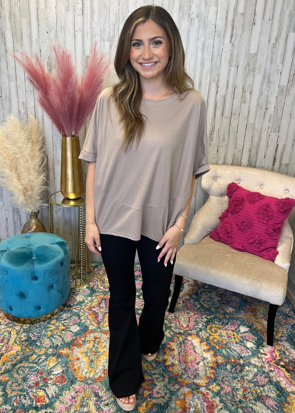 Call This Love Berry Linen Blend Pocket Top-Shop-Womens-Boutique-Clothing
