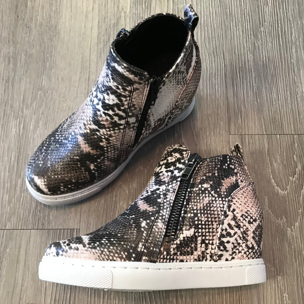 Callie Taupe Snakeprint Sneakers-Shop-Womens-Boutique-Clothing
