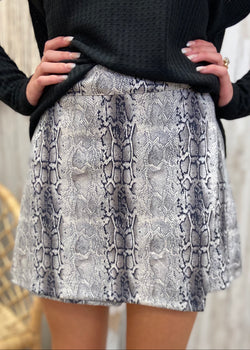 Athena Taupe Snakeprint Skort-Shop-Womens-Boutique-Clothing