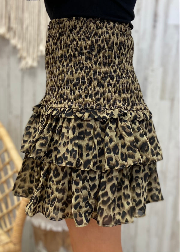 Turn Up the Sass Brown Leopard Skirt-Shop-Womens-Boutique-Clothing