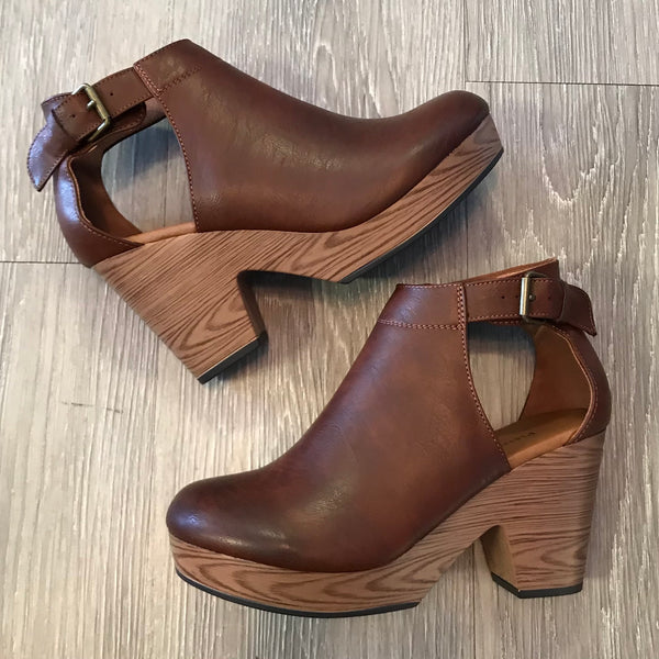 Ashley Whiskey Suede Clogs-Shop-Womens-Boutique-Clothing