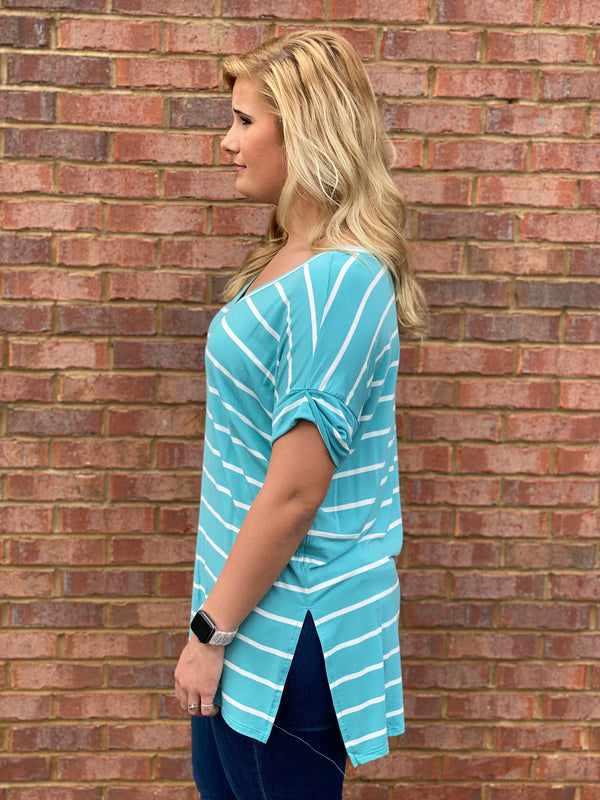 Casual Obsession Ash Mint Top-Shop-Womens-Boutique-Clothing
