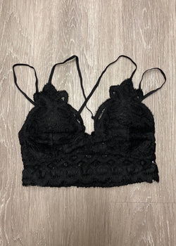 Signature Accessory Black Crochet Bralette-Shop-Womens-Boutique-Clothing
