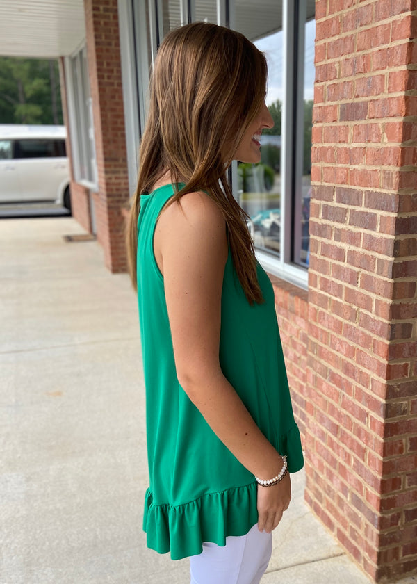 Only Love Kelly Green Top-Shop-Womens-Boutique-Clothing