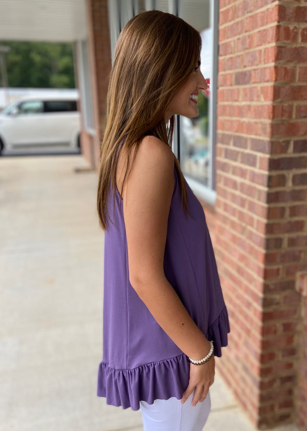 Only Love Lilac Gray Top-Shop-Womens-Boutique-Clothing