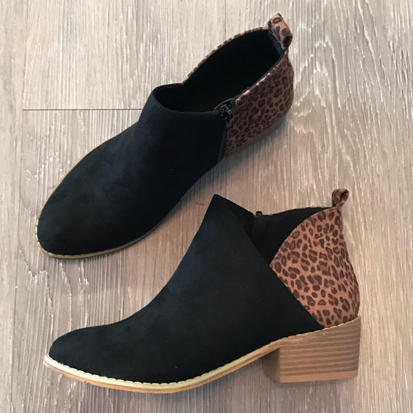 Chrissy Black Leopard Booties-Shop-Womens-Boutique-Clothing