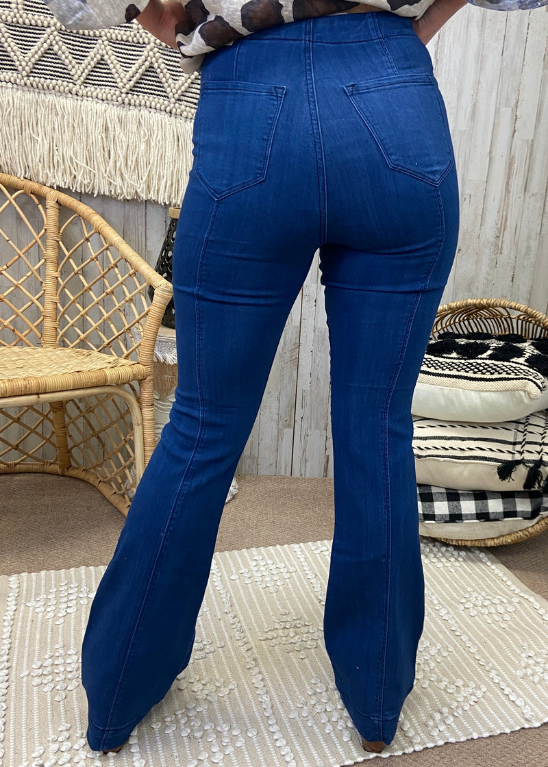 It's Like That Denim Flare Jeans-Shop-Womens-Boutique-Clothing