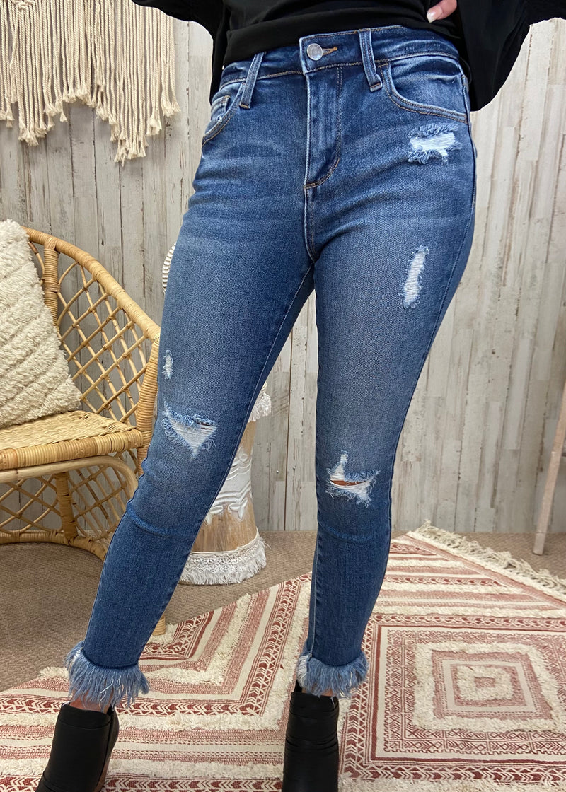 Back Together Med Denim Skinny Jeans-Shop-Womens-Boutique-Clothing