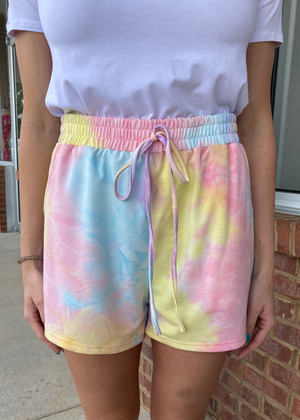 Count On Comfort Tie Dye Shorts-Shop-Womens-Boutique-Clothing
