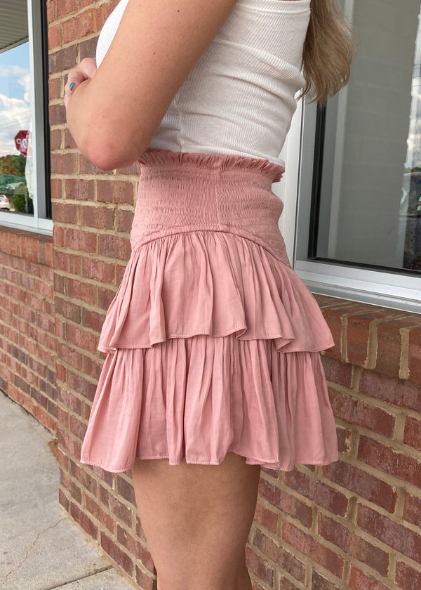 The Iconic Powder Rose Skirt-Shop-Womens-Boutique-Clothing