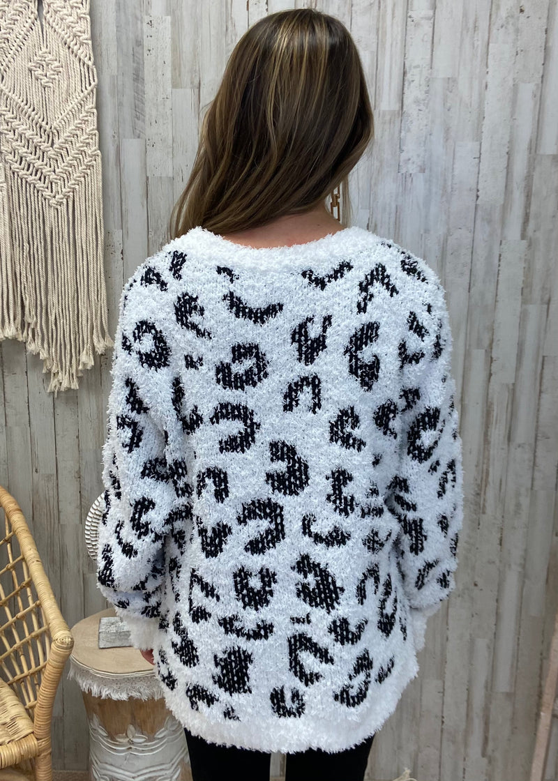 Flaunt Fallishness White Leopard Sweater-Shop-Womens-Boutique-Clothing