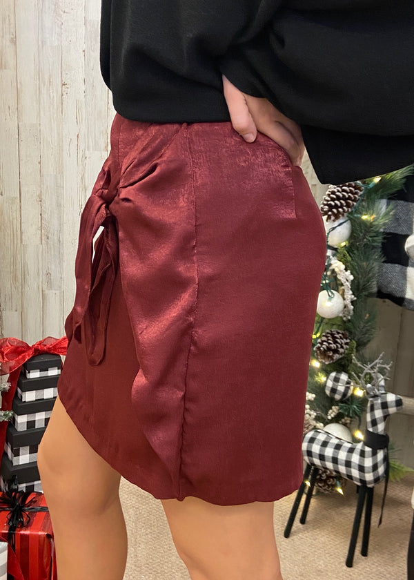 Out Of Nowhere Wine Skirt-Shop-Womens-Boutique-Clothing