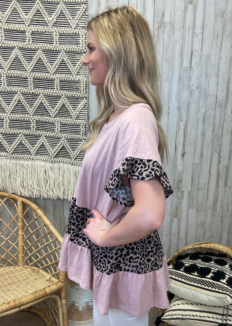 Positive Attitude Dusty Rose Leopard Top-Shop-Womens-Boutique-Clothing