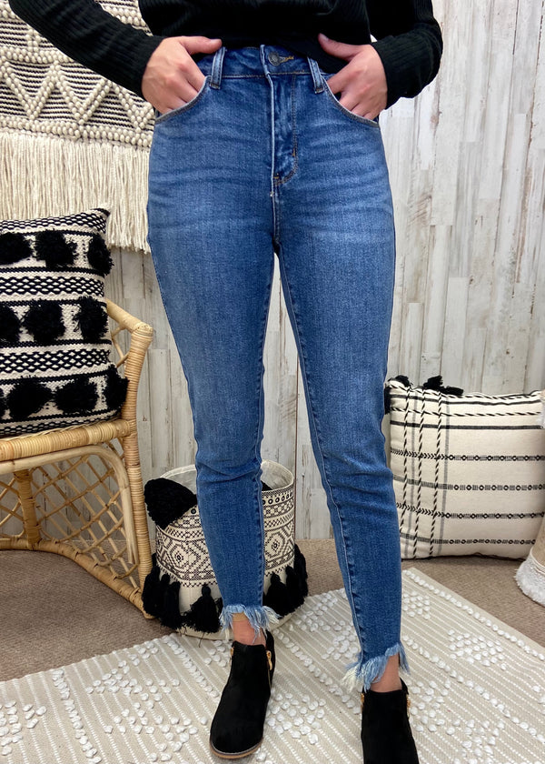 Cue The Casual Mid Denim Skinny Jeans-Shop-Womens-Boutique-Clothing