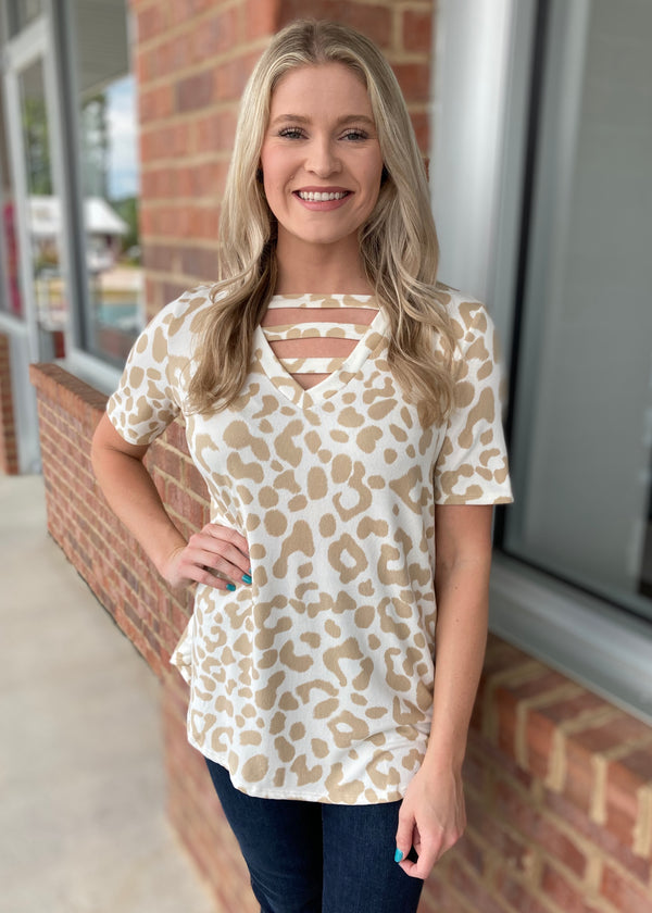Wildly Simple Taupe Leopard Top-Shop-Womens-Boutique-Clothing